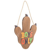 Boys Only Dino Paw Wood Wall Decor